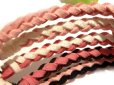 画像3: ★ペア価格★新作ピンク★刻印無料♪レザー製プレート付きミサンガブレスレット♪カラフルな革紐を編んだブレスのプレートに絵柄・名前・記念日刻印♪ (3)